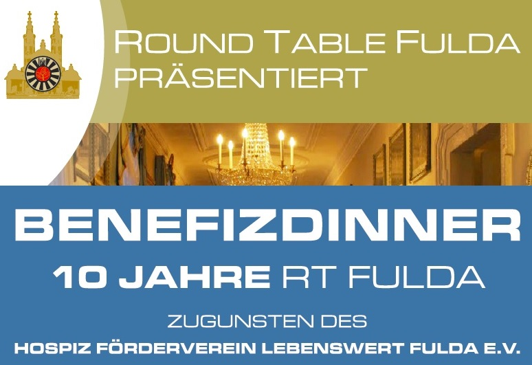 10 Jahre Round Table Fulda – Benefizdinner am 14. April